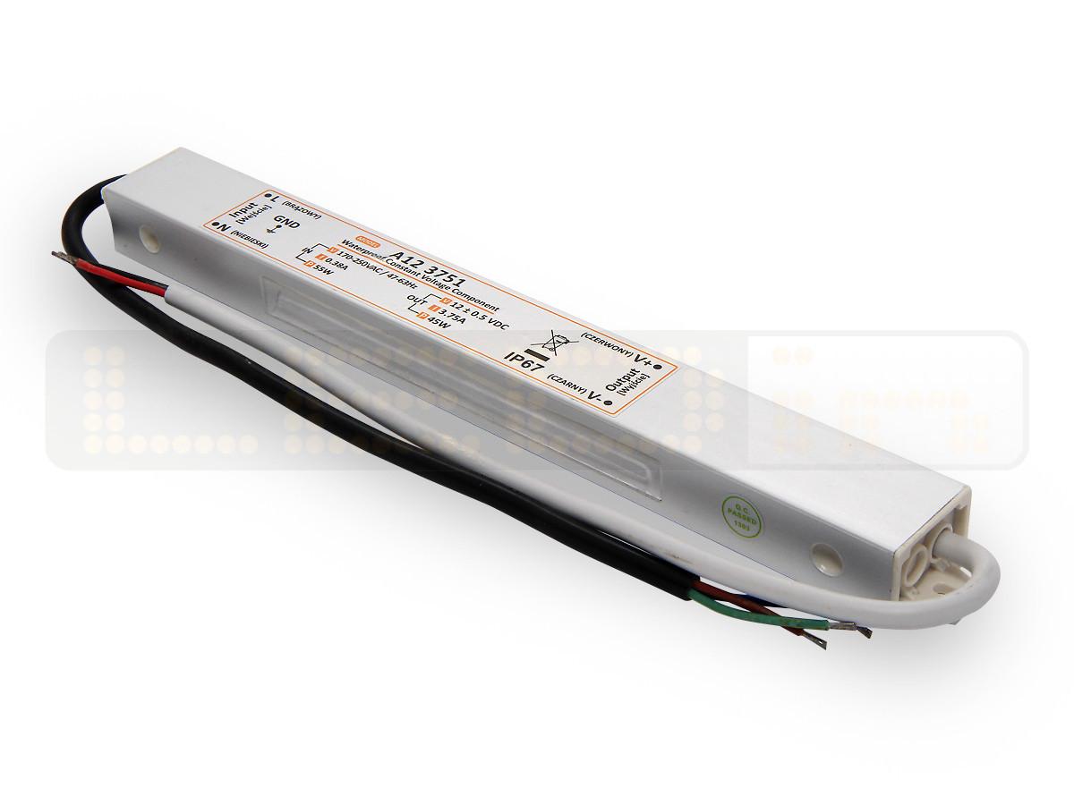 45W LED Netzteil, LED Trafo 12V 3,75A IP67 für LED strips LED leiste