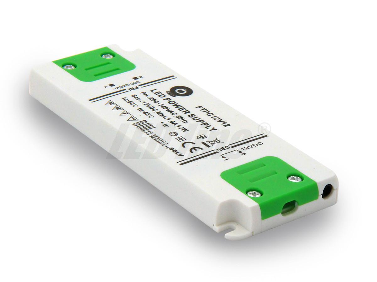 12W LED Netzteil, Möbel LED Trafo 12V 1A IP20 für LED strips LED leiste