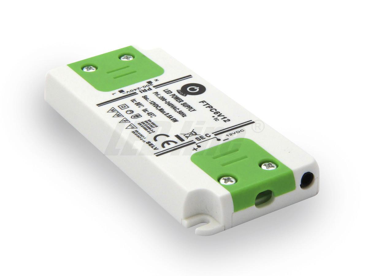 6W LED Netzteil, Möbel LED Trafo 12V 0,5A IP20 für LED strips LED leiste